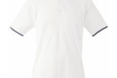 Poloshirt Weiß-Blau